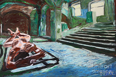 Nude Painting - Vault Sleeping 2578 by Lars  Deike