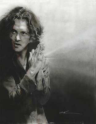 Pearl Jam Painting - 'vedder Iv' by Christian Chapman Art
