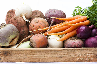 Carrot Photograph - Veg Box by Anne Gilbert