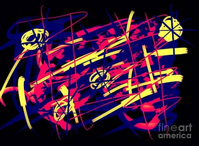Abstract Movement Drawing - Vegas Delight by Paulo Guimaraes
