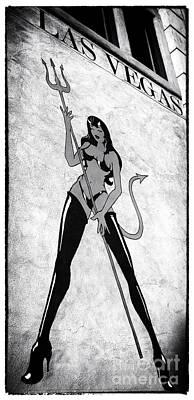 She-devil Photograph - Vegas Diablo by John Rizzuto