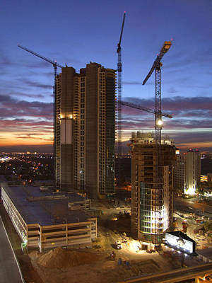 Construction Photograph - Vegas Expansion by Mike McGlothlen