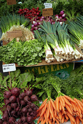 Hobart Photograph - Vegetable Stall, Saturday Market by David Wall