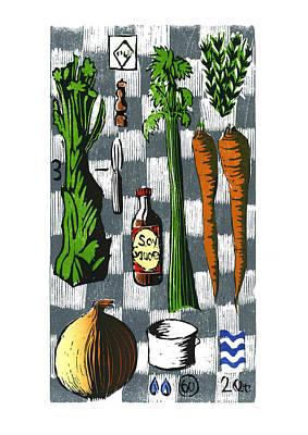 Vegetable Stock Ingredients Print by David Esslemont