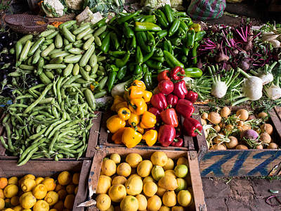 Vegetables For Sale In Souk, Marrakesh Print by Panoramic Images