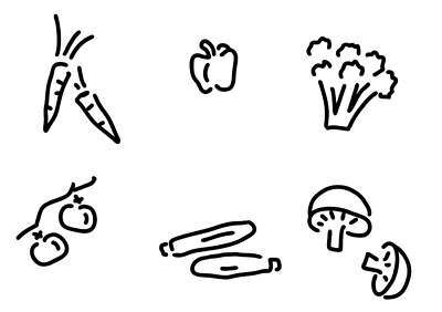 Carrot Drawing - Vegetables Mushrooms by Lineamentum