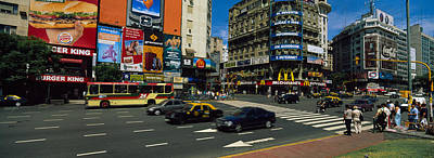 Buenos Aires Photograph - Vehicles Moving On A Road, Buenos by Panoramic Images