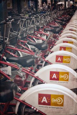 Bike Photograph - Velo Antwerpen by Joan Carroll