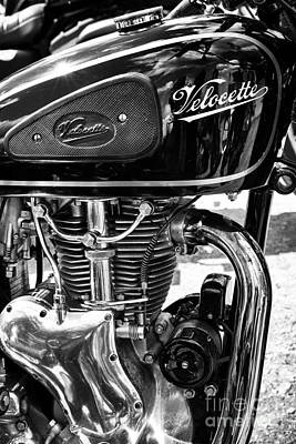 Velocette Motorcycle Monochrome Original by Tim Gainey