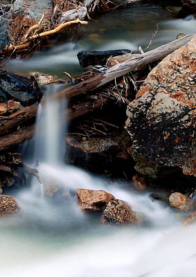 Snow Melt Photograph - Velvet Falls - Rocky Mountain Stream by Steven Milner