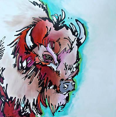 Buffalo Painting - Velvet Stud by Nicole Gaitan