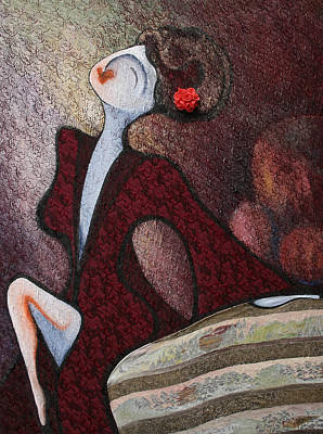 Fabric Mixed Media - Velveteen Light by Claire Wentzel