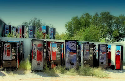 Pop Can Photograph - Vending Machine Graveyard by Tony Grider