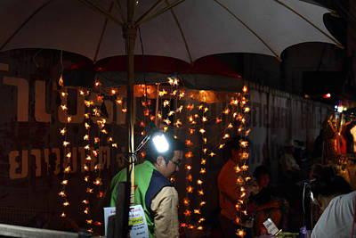 Vendors - Night Street Market - Chiang Mai Thailand - 011334 Print by DC Photographer