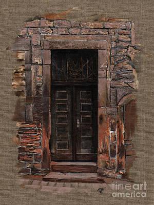 Painting - Venetian Door 02 Elena Yakubovich by Elena Yakubovich