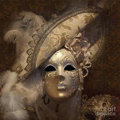 Heiko Photograph - Venetian Face Mask F by Heiko Koehrer-Wagner