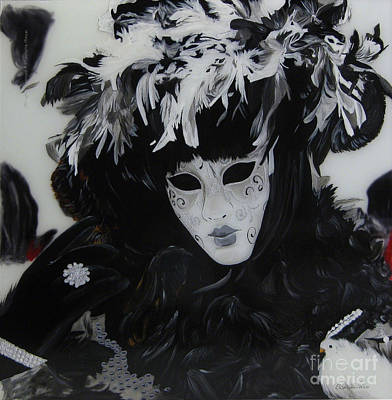 Elisabetta Artusi Painting - Venetian Mask by Betta Artusi