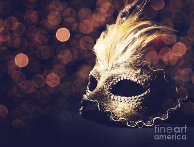 Fetish Pyrography - Venetian Mask by Jelena Jovanovic