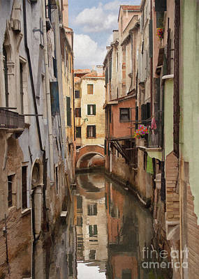 Venecia Digital Art - Venetian Reflection by Sharon Foster