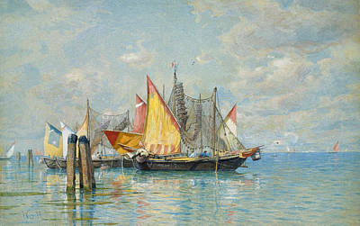 William Stanley Haseltine Painting - Venetian Sailboats by William Stanley Haseltine