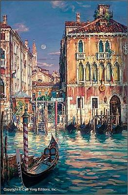 E 20 Painting - Venetian Sunset by Cao Yong