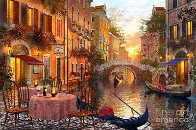 Venetian Sunset Print by Dominic Davison