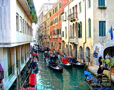 Venetian Traffic Jam Print by Phillip Allen