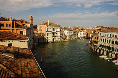 Venetian View Of The Grand Canal  Print by Georgia Mizuleva