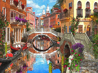 Venetian Waterway Print by Dominic Davison