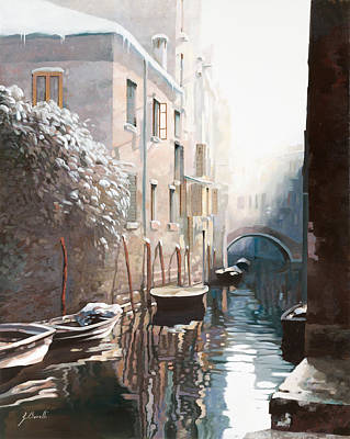 January Painting - Venezia Sotto La Neve by Guido Borelli