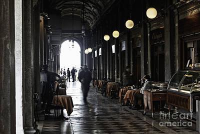 Quadri Photograph - Venice Cafe  by George Oze