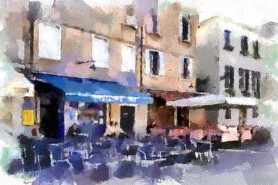 Venice Caffe Print by Yury Malkov