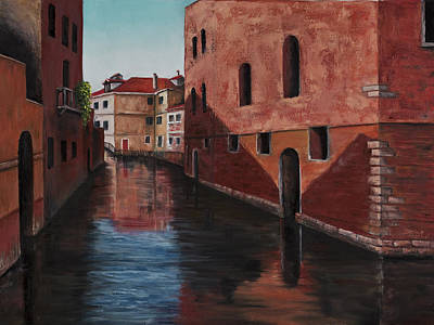 Clear Sky Painting - Venice Canal by Darice Machel McGuire