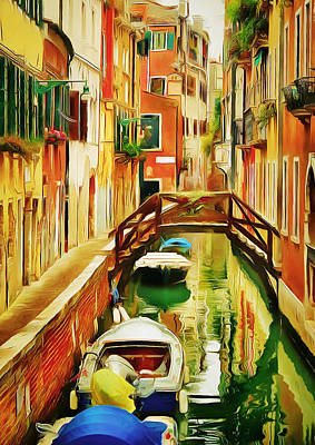 Venice Canals 19 Print by Yury Malkov