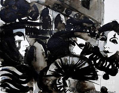 Palace Painting - Venice Carnival 2 by Mona Edulesco
