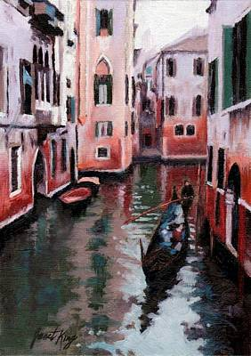 Painting - Venice Gondola Ride by Janet King