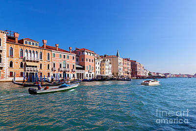 Cityscape Photograph - Venice Grand Canal View Italy by Michal Bednarek
