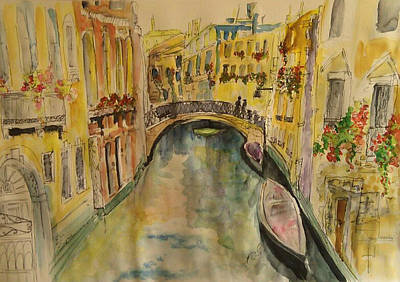 Painting - Venice I. by Paula Steffensen