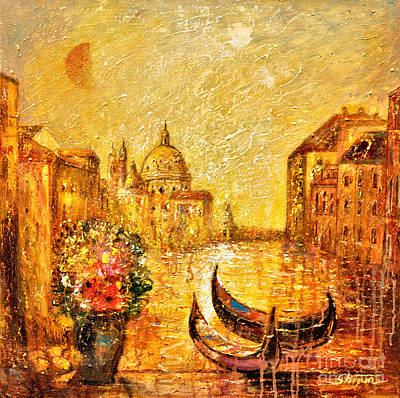 Impressionistic Landscape Painting - Venice II by Shijun Munns