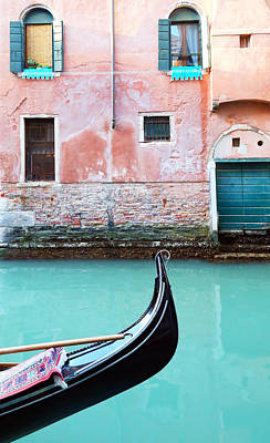Turquoise Photograph - Venice In Aqua And Coral by Brooke T Ryan