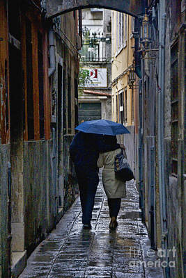 Rainy Day Photograph - Venice In The Rain by Crystal Nederman