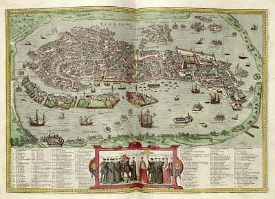 Venice Print by Library Of Congress, Geography And Map Division