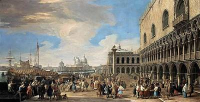 Venice Ca Painting - Venice by Luca Carlevarijs