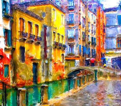 Venice Raining Print by Yury Malkov