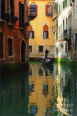 Venice Reflections Print by Bob Christopher
