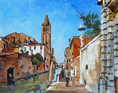 Venice Ca Painting - Venice - Rio Di San Barnaba by Irek Szelag