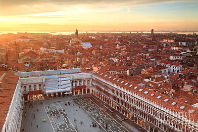 Citylife Photograph - Venice Roofs by Matteo Colombo