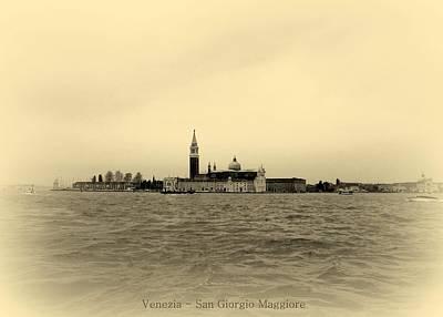 Church Photograph - Venice San Giorgio Maggiore by Bishopston Fine Art