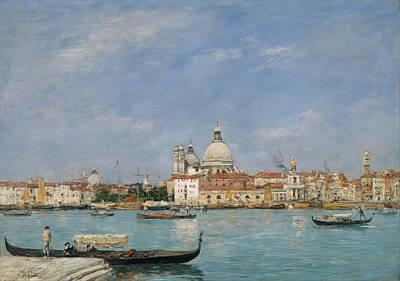 Eugene Boudin Painting - Venice. Santa Maria Della Salute From San Giorgio by Eugene Boudin
