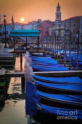 Venice Sunrise Print by Inge Johnsson